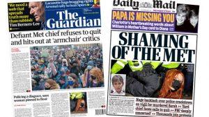 Sarah Everard cinayeti: İngiltere basınında, anma etkinliğine polis müdahalesi manşetlerde: 'Utanç verici'